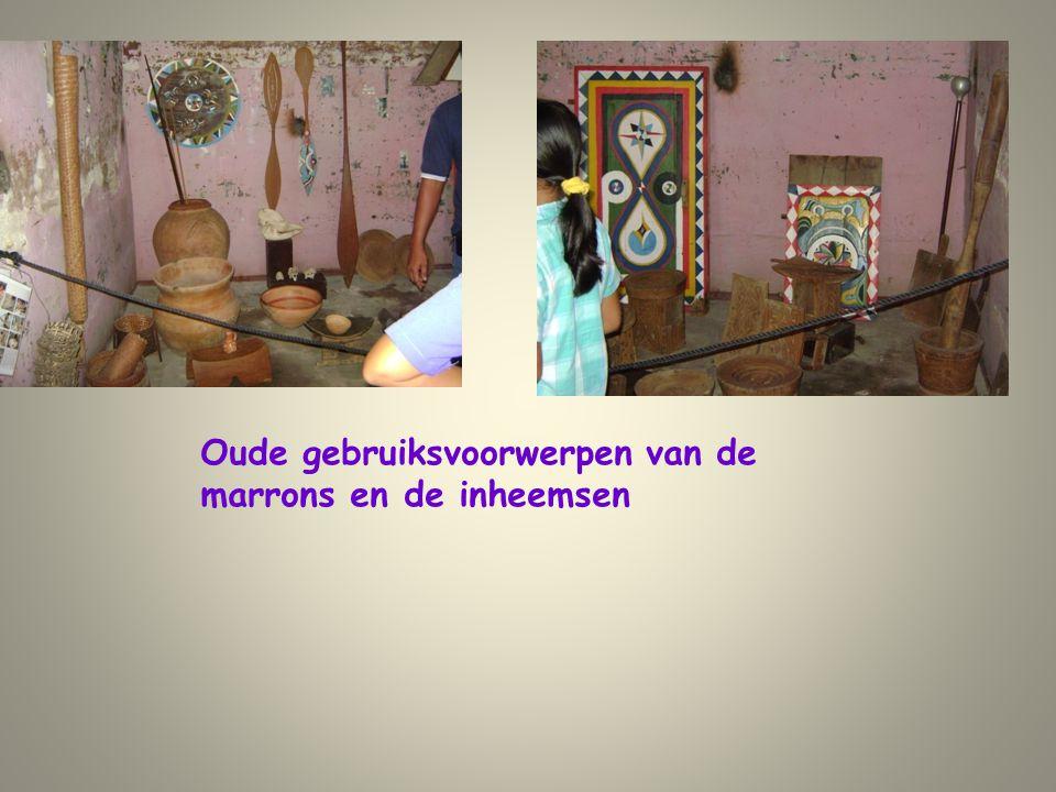 Oude gebruiksvoorwerpen van de marrons en de inheemsen