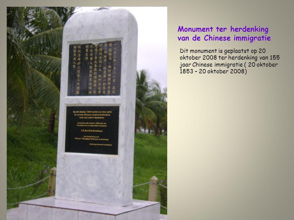 Monument ter herdenking van de Chinese immigratie