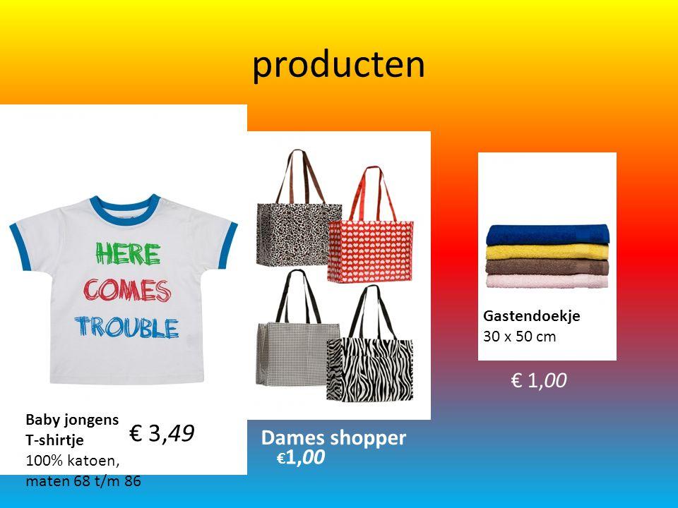 producten € 3,49 € 1,00 Dames shopper Gastendoekje 30 x 50 cm