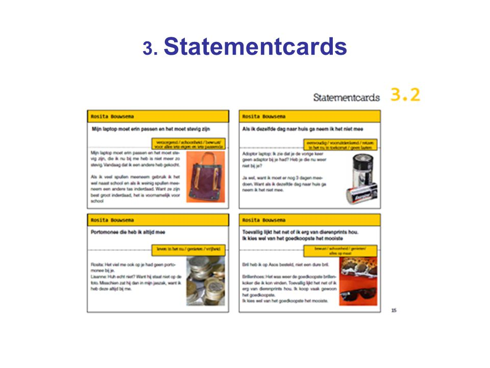 3. Statementcards