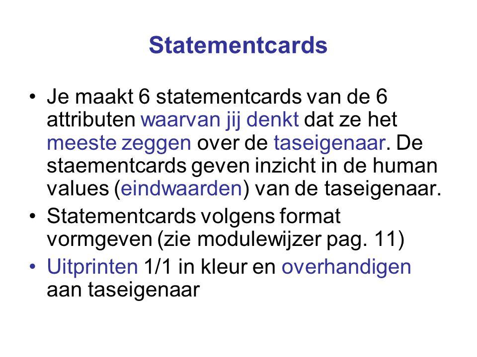 Statementcards