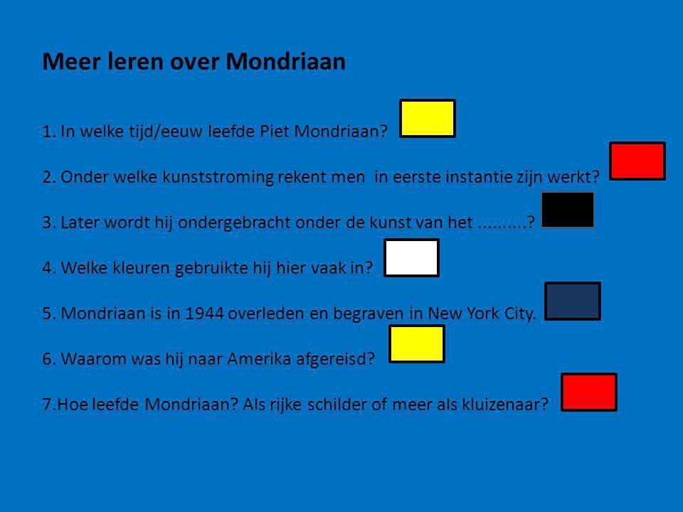 Meer leren over Mondriaan