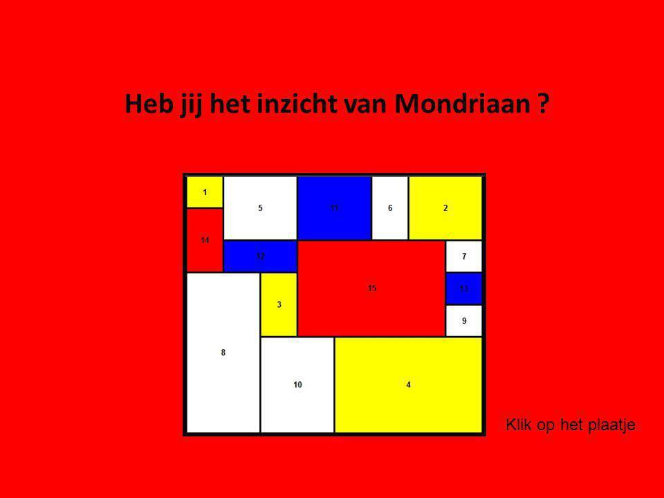 Heb jij het inzicht van Mondriaan