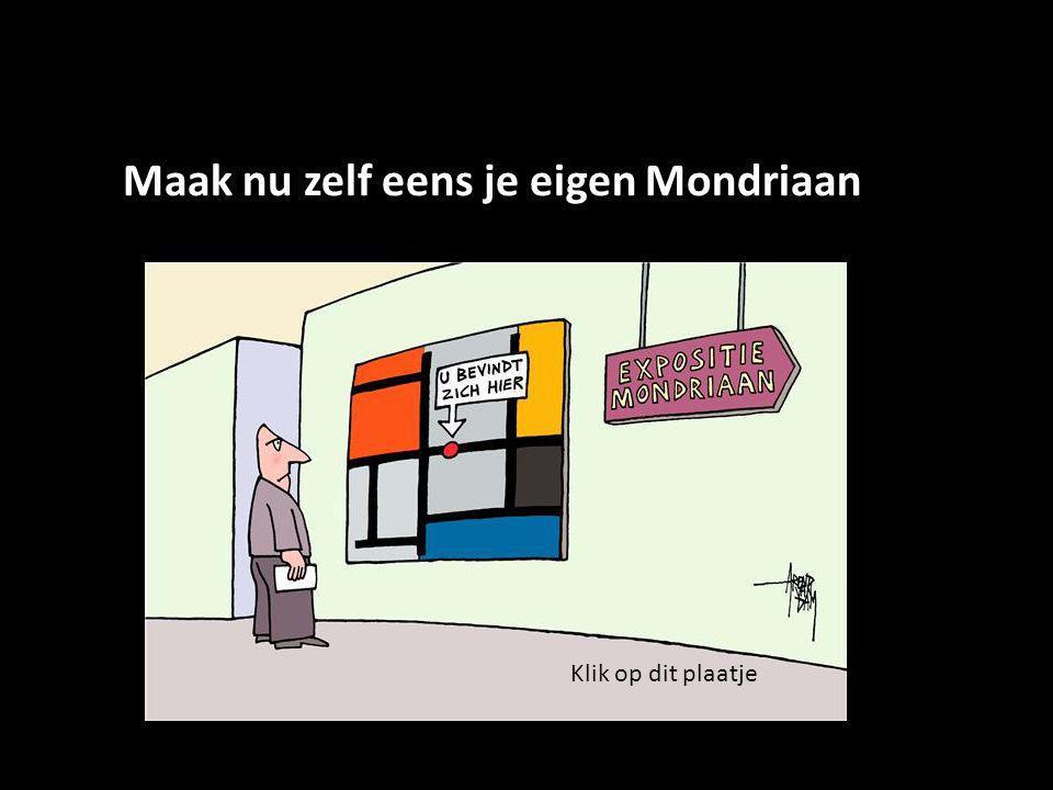 Maak nu zelf eens je eigen Mondriaan