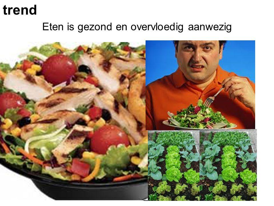 Eten is gezond en overvloedig aanwezig