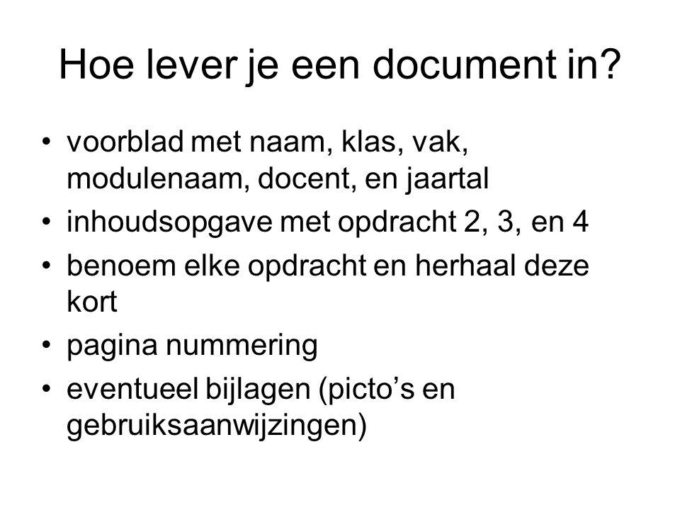 Hoe lever je een document in