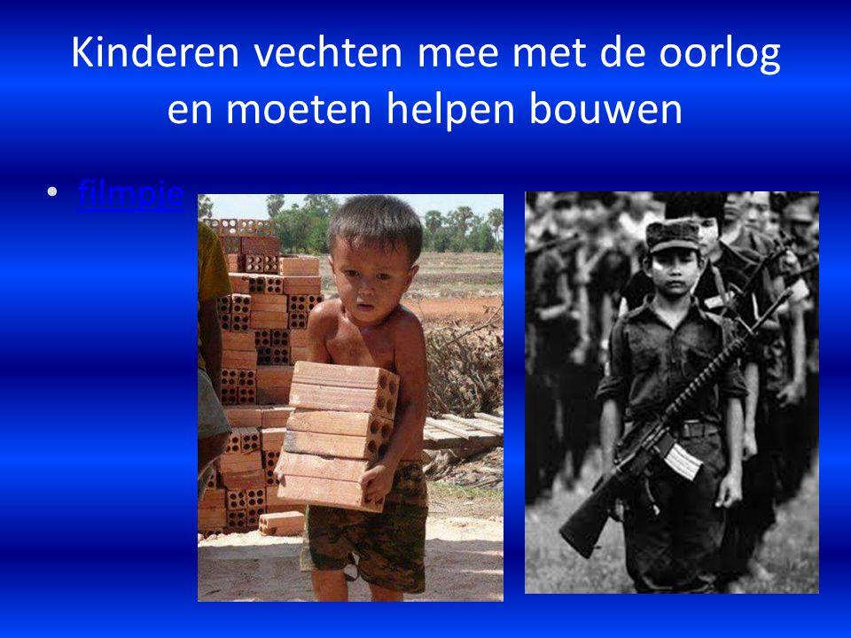 Kinderen vechten mee met de oorlog en moeten helpen bouwen