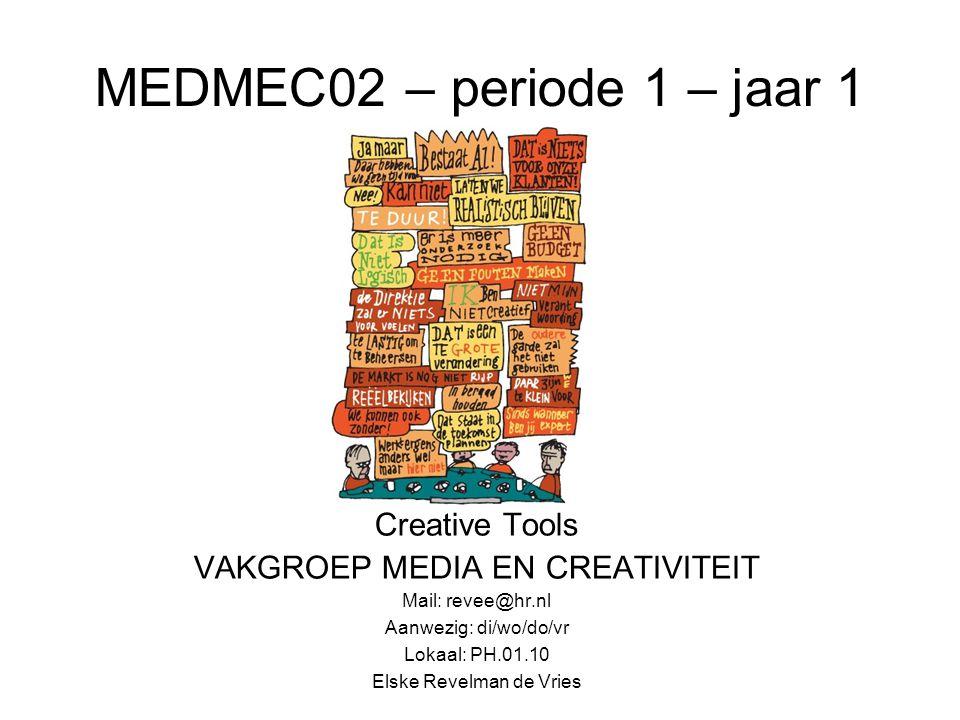 MEDMEC02 – periode 1 – jaar 1 Creative Tools