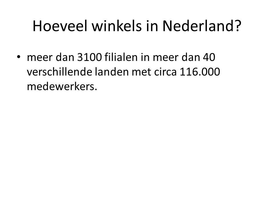 Hoeveel winkels in Nederland