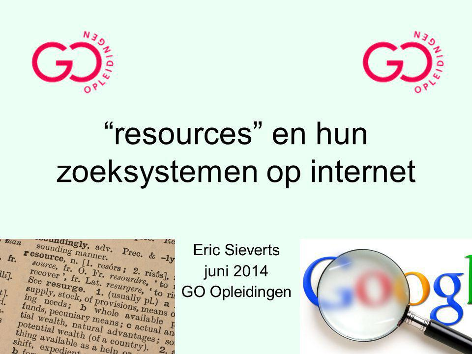 resources en hun zoeksystemen op internet