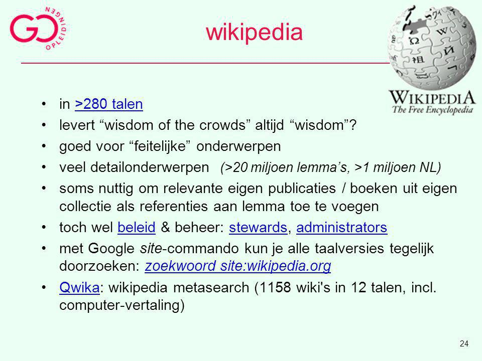 wikipedia in >280 talen