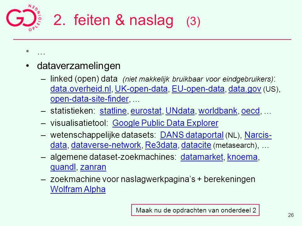 2. feiten & naslag (3) ... dataverzamelingen