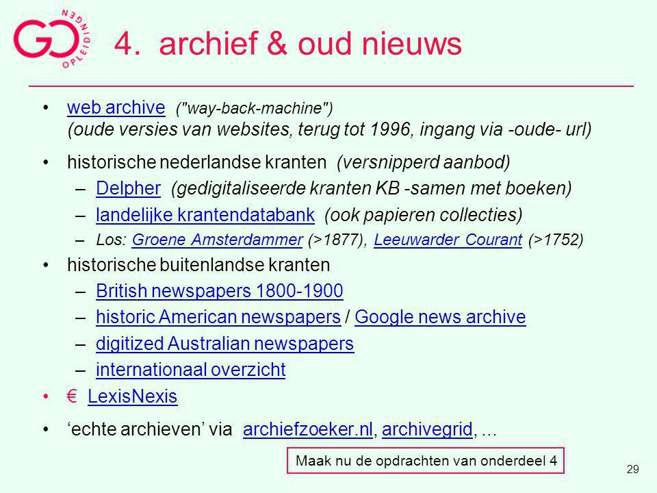 4. archief & oud nieuws web archive ( way-back-machine )
