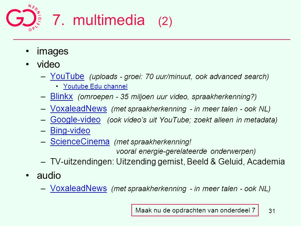 7. multimedia (2) images video audio