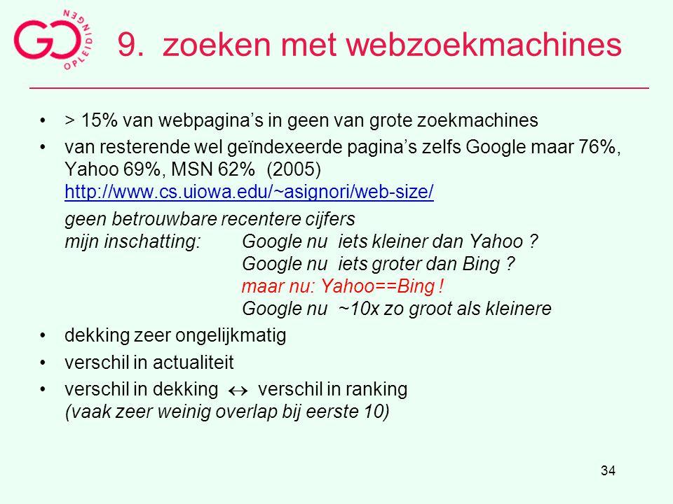 9. zoeken met webzoekmachines
