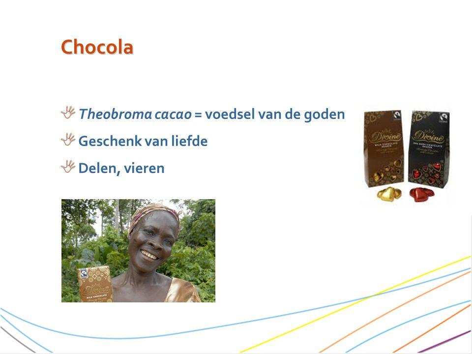 Chocola Theobroma cacao = voedsel van de goden Geschenk van liefde
