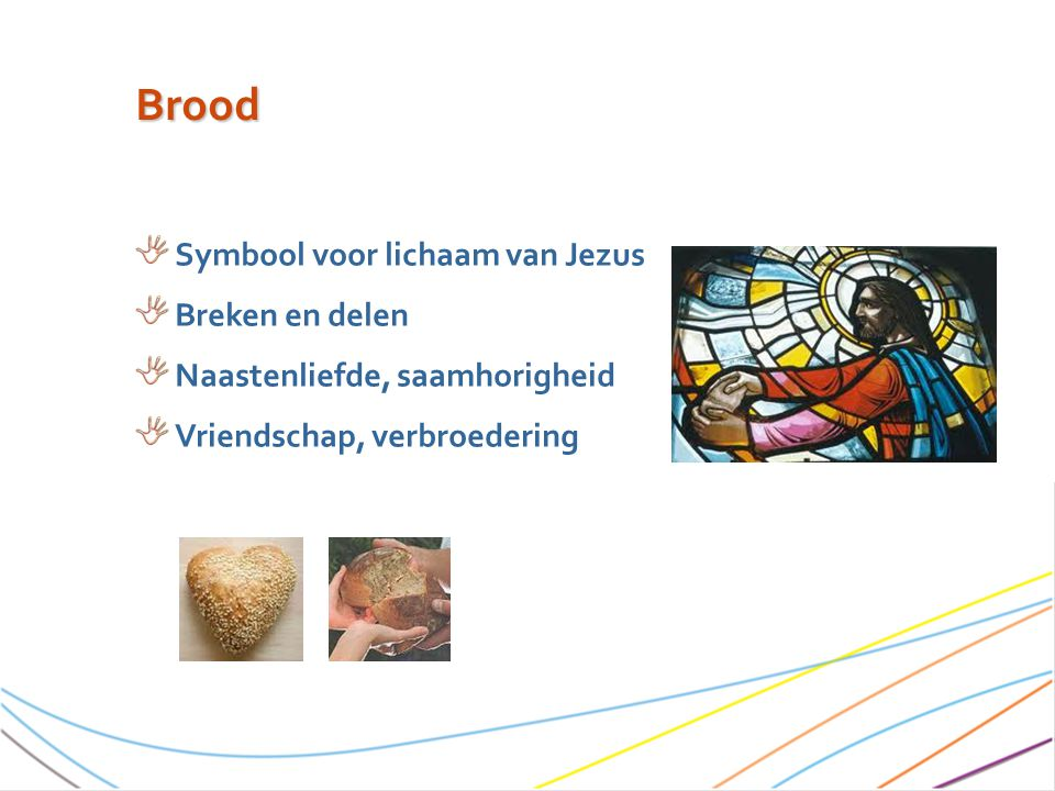 Brood Symbool voor lichaam van Jezus Breken en delen