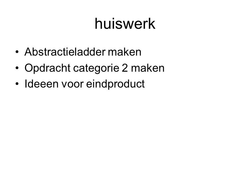 huiswerk Abstractieladder maken Opdracht categorie 2 maken