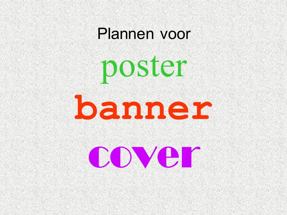 Plannen voor poster banner cover