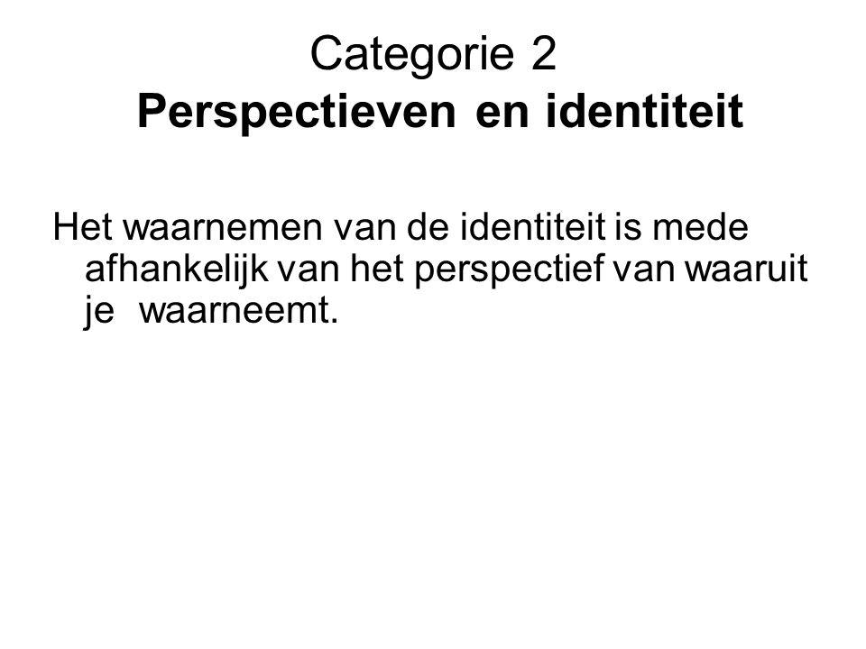 Categorie 2 Perspectieven en identiteit