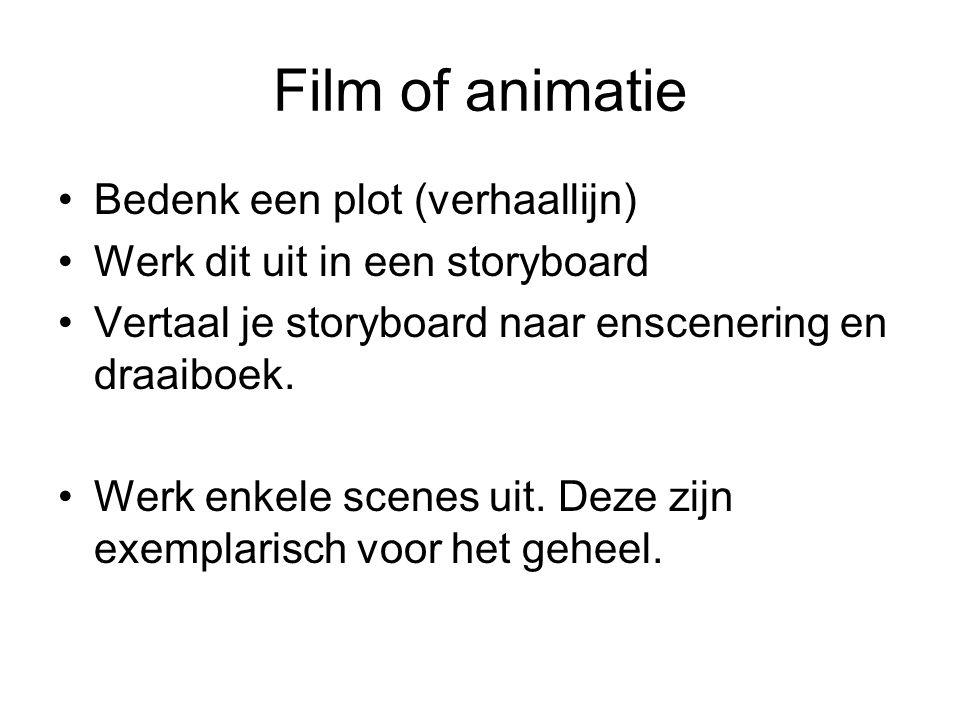 Film of animatie Bedenk een plot (verhaallijn)