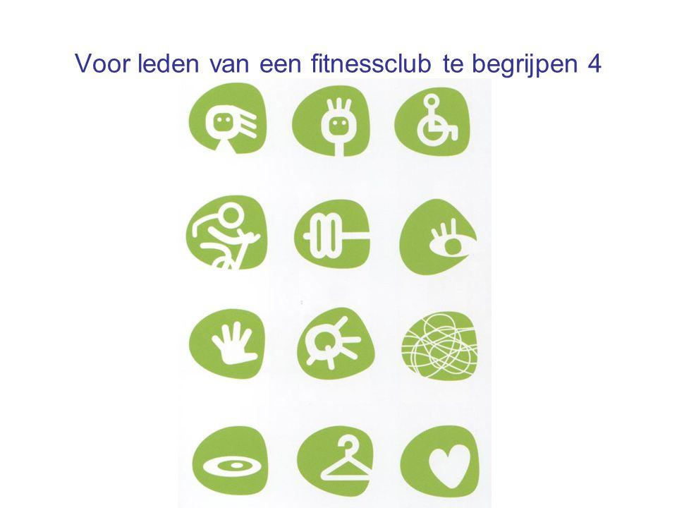 Voor leden van een fitnessclub te begrijpen 4