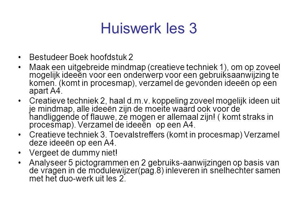 Huiswerk les 3 Bestudeer Boek hoofdstuk 2