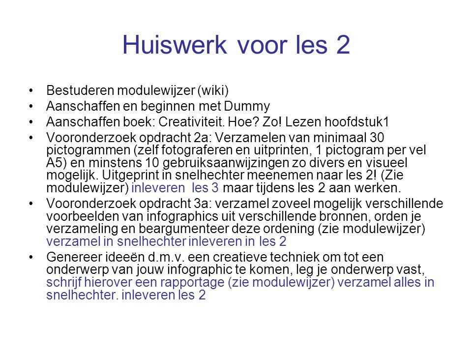Huiswerk voor les 2 Bestuderen modulewijzer (wiki)