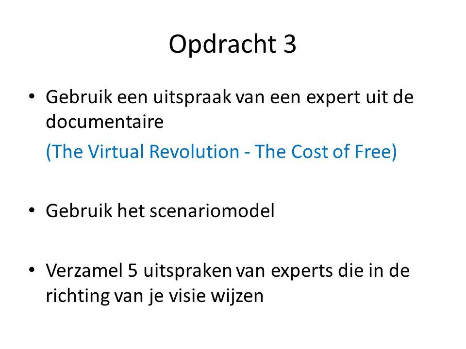 Opdracht 3 Gebruik een uitspraak van een expert uit de documentaire