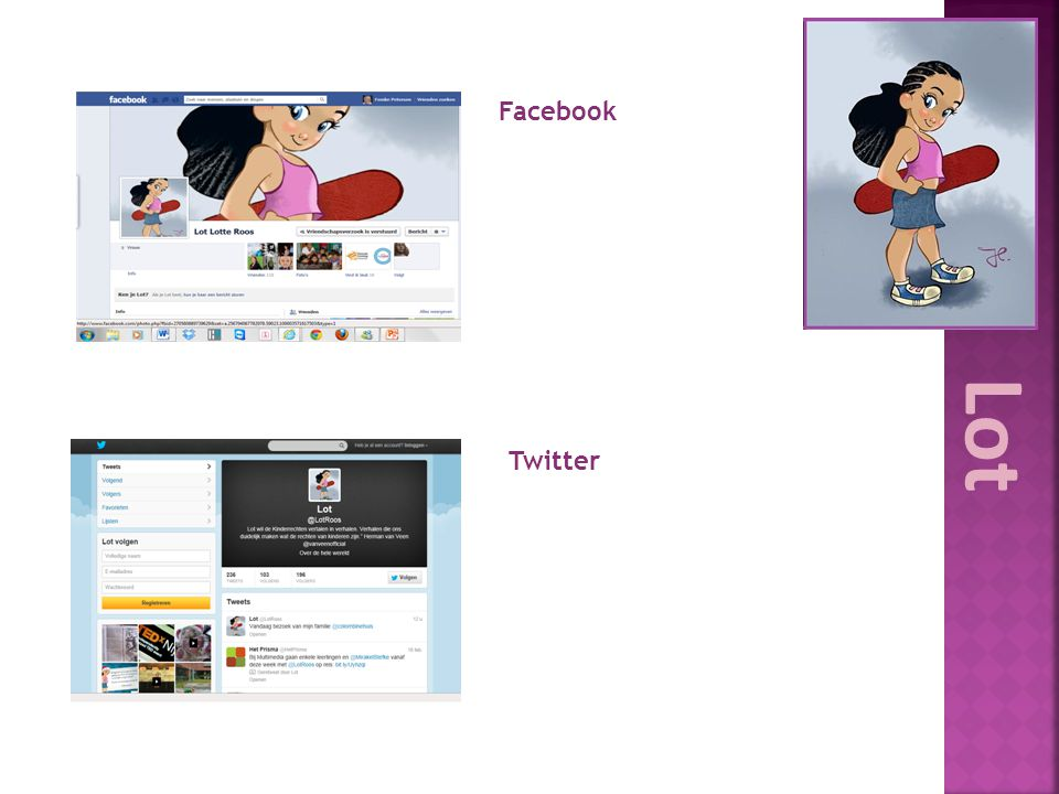 Facebook Lot Twitter