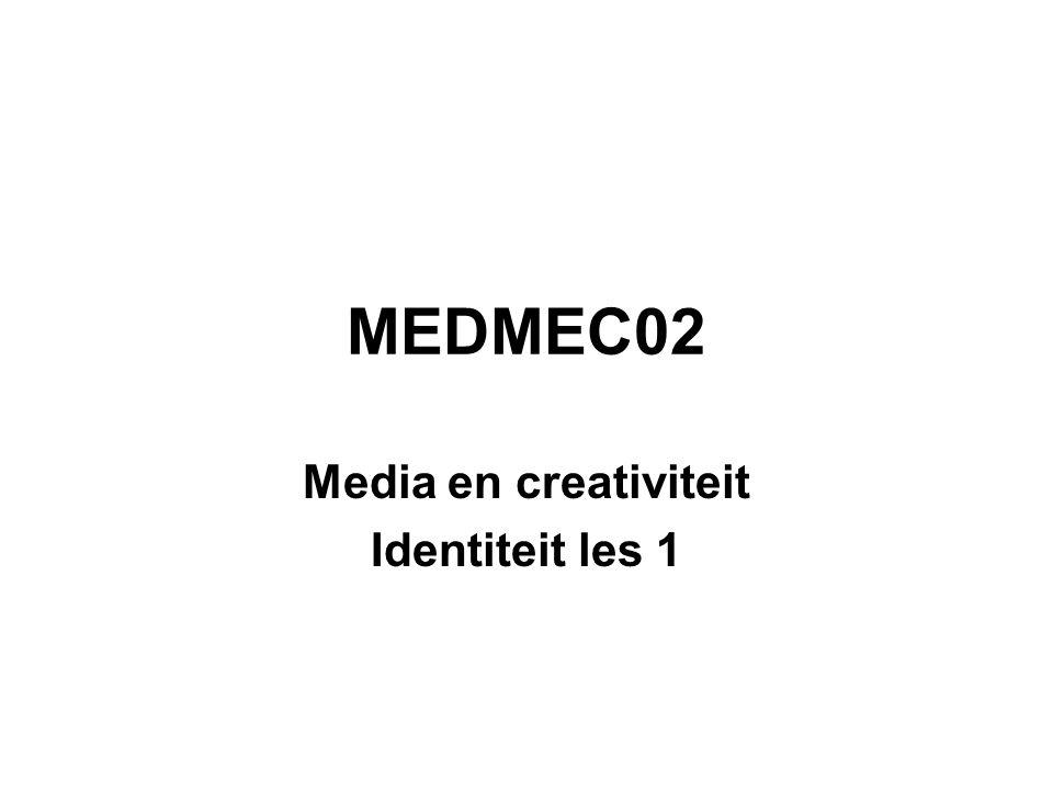Media en creativiteit Identiteit les 1