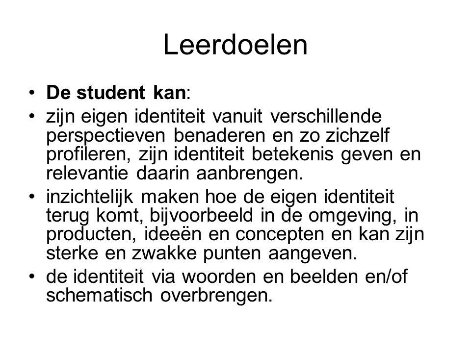 Leerdoelen De student kan: