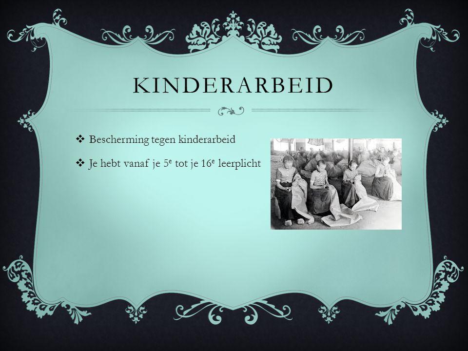 kinderarbeid Bescherming tegen kinderarbeid