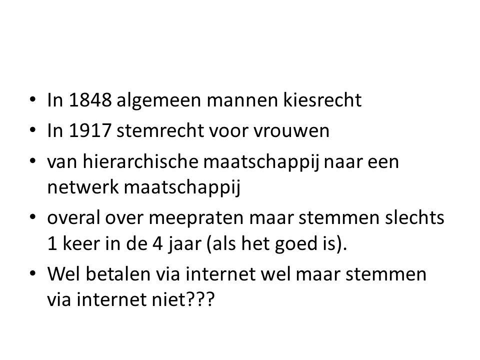 In 1848 algemeen mannen kiesrecht