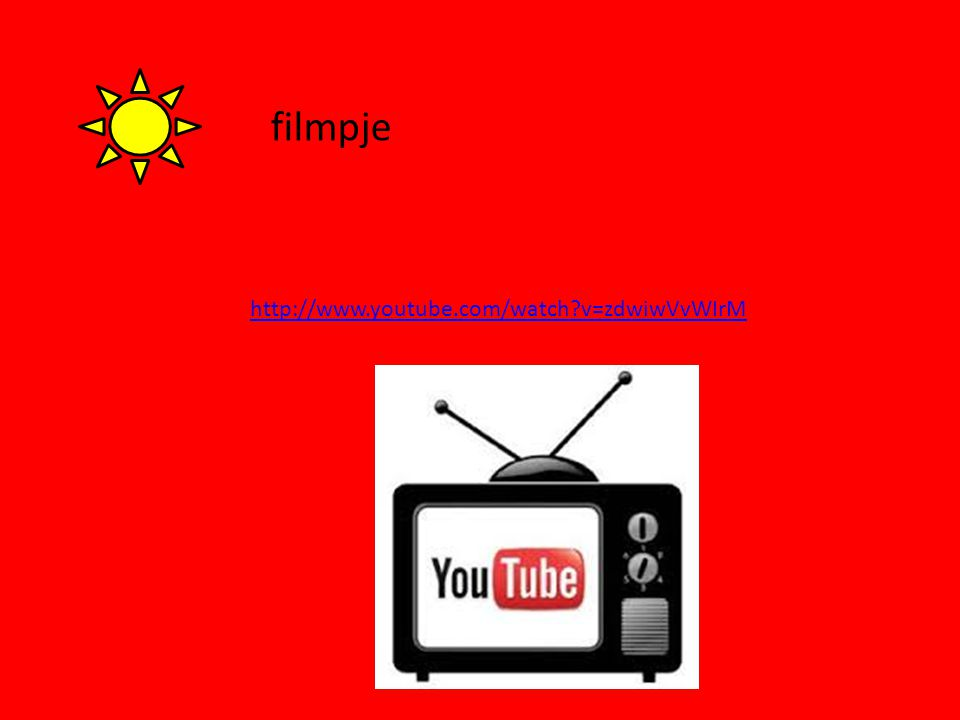 filmpje http://www.youtube.com/watch v=zdwiwVvWIrM