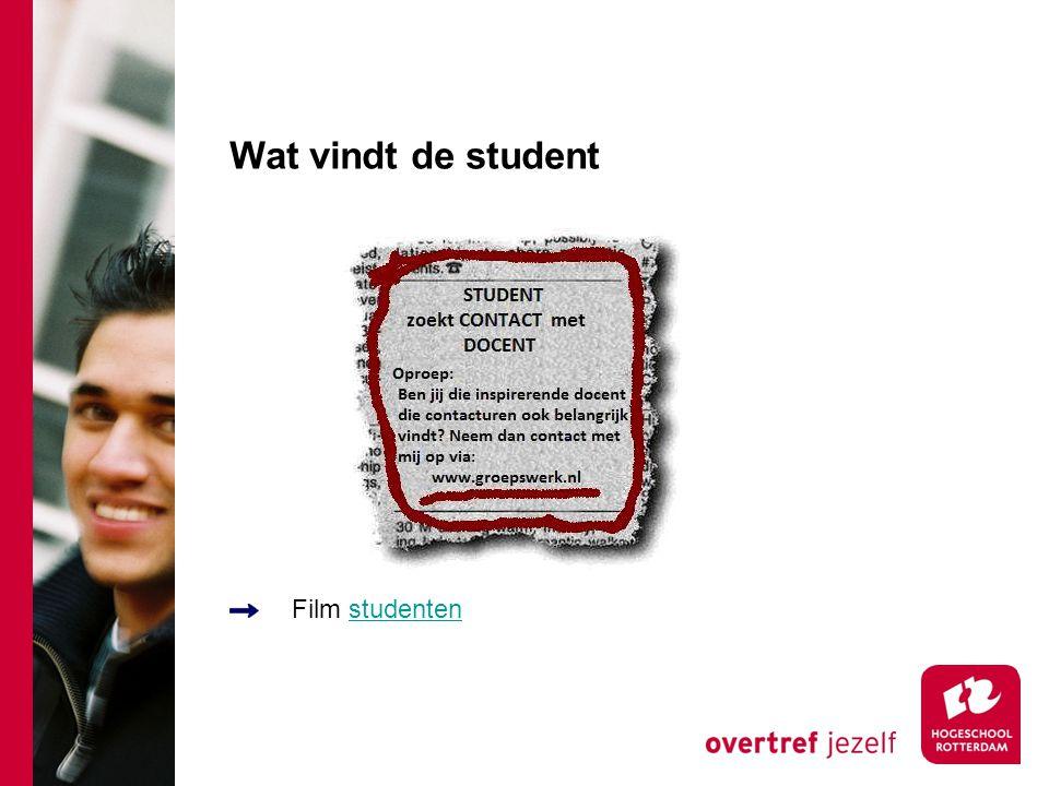 Wat vindt de student Film studenten