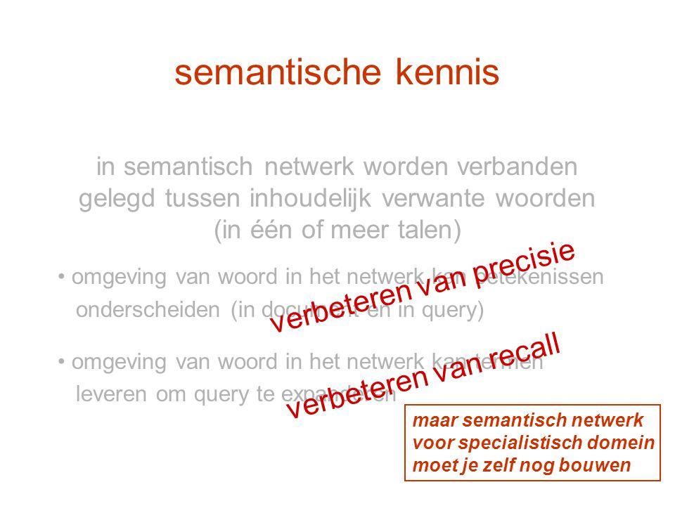 semantische kennis verbeteren van precisie verbeteren van recall