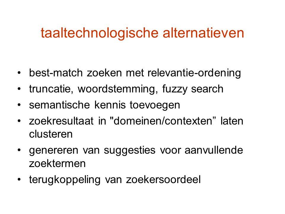 taaltechnologische alternatieven