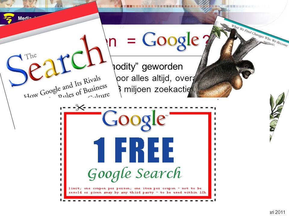 zoeken = google zoeken is een commodity geworden