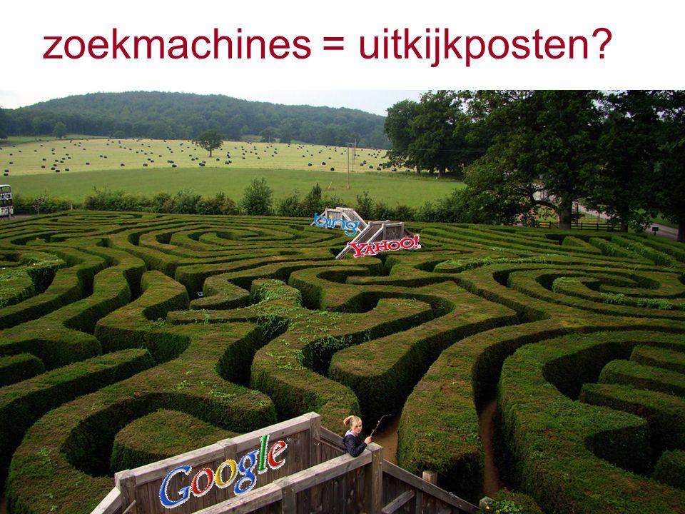 zoekmachines = uitkijkposten
