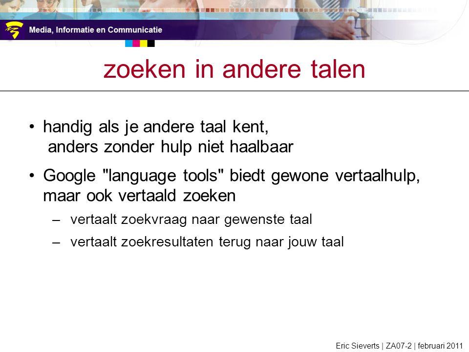zoeken in andere talen handig als je andere taal kent,