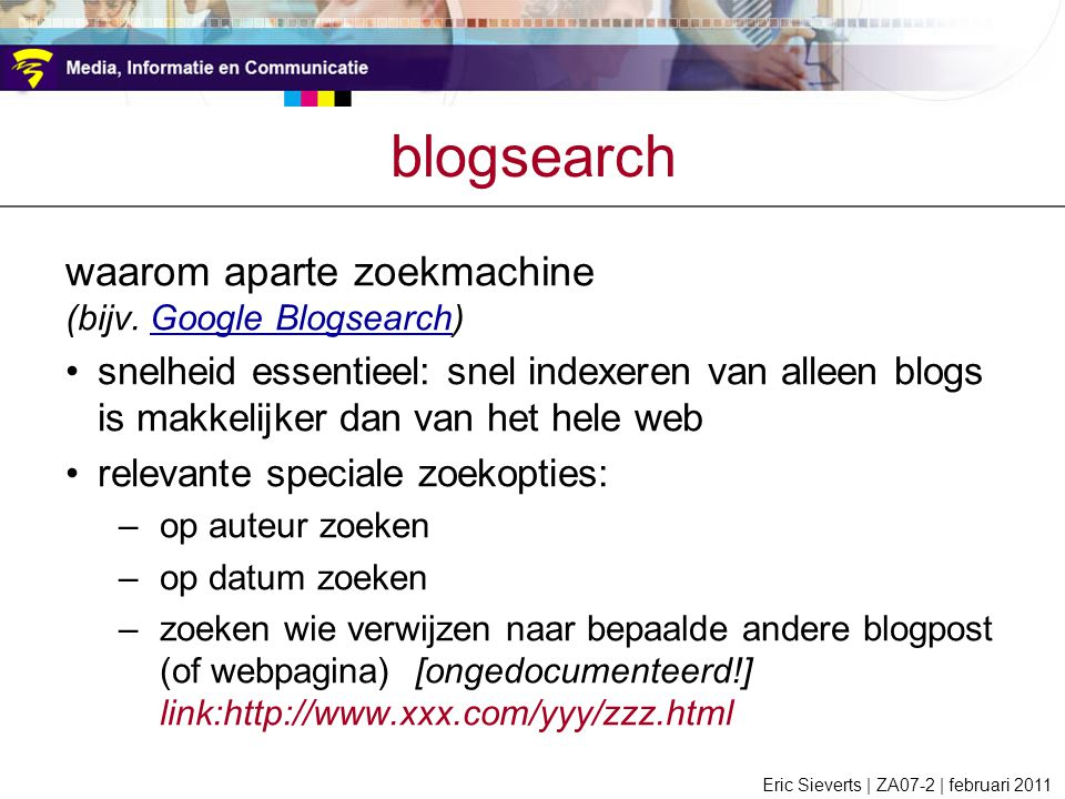 blogsearch waarom aparte zoekmachine