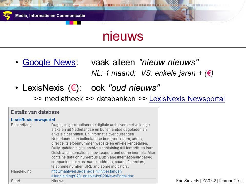 nieuws Google News: vaak alleen nieuw nieuws