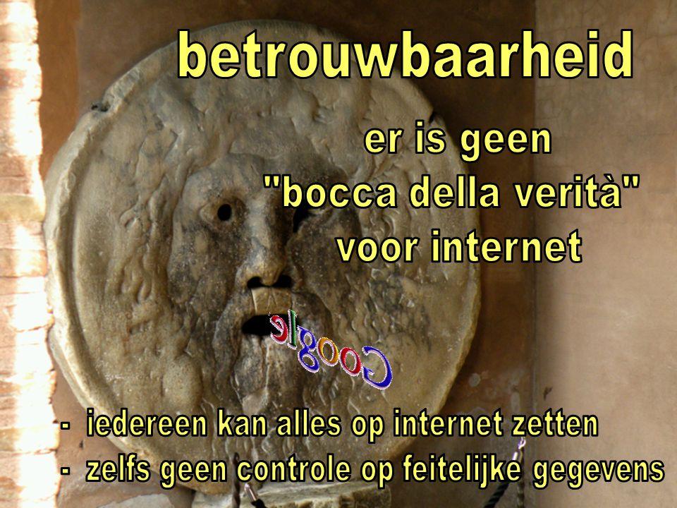 betrouwbaarheid s er is geen bocca della verità voor internet