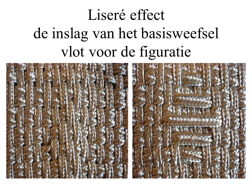 Liseré effect de inslag van het basisweefsel vlot voor de figuratie