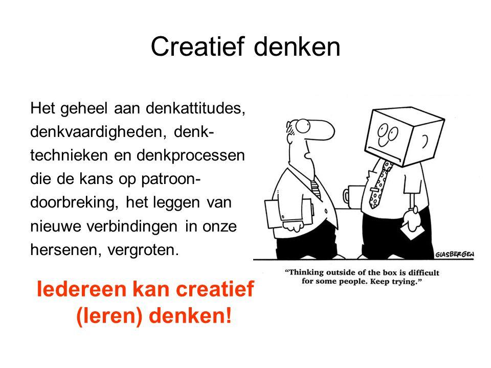 Iedereen kan creatief (leren) denken!