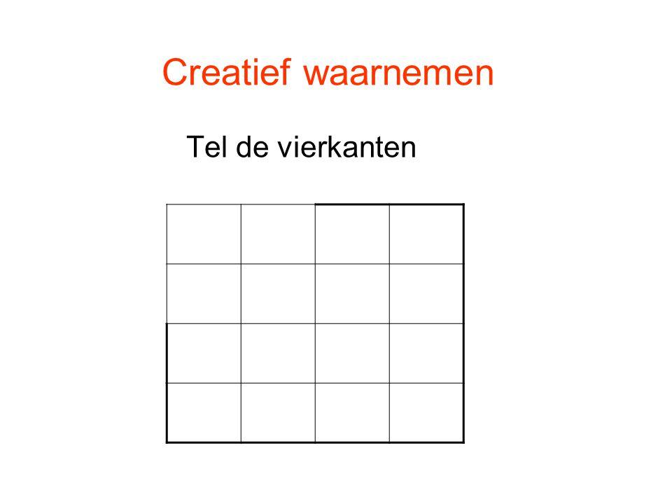 Creatief waarnemen Tel de vierkanten