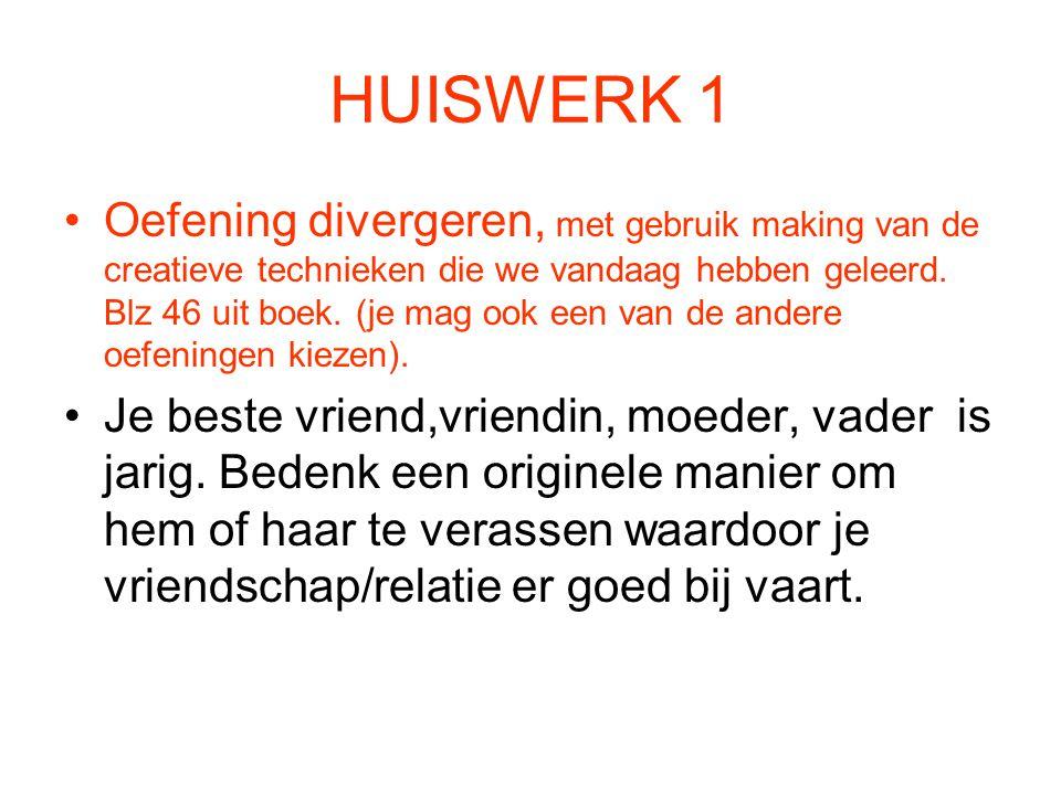 HUISWERK 1