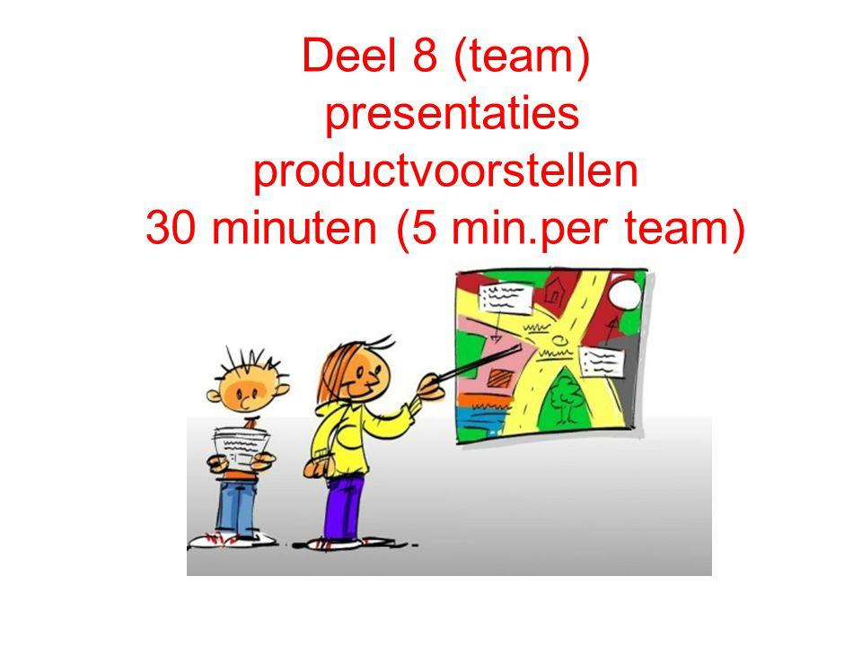 Presentatie productvoorstellen