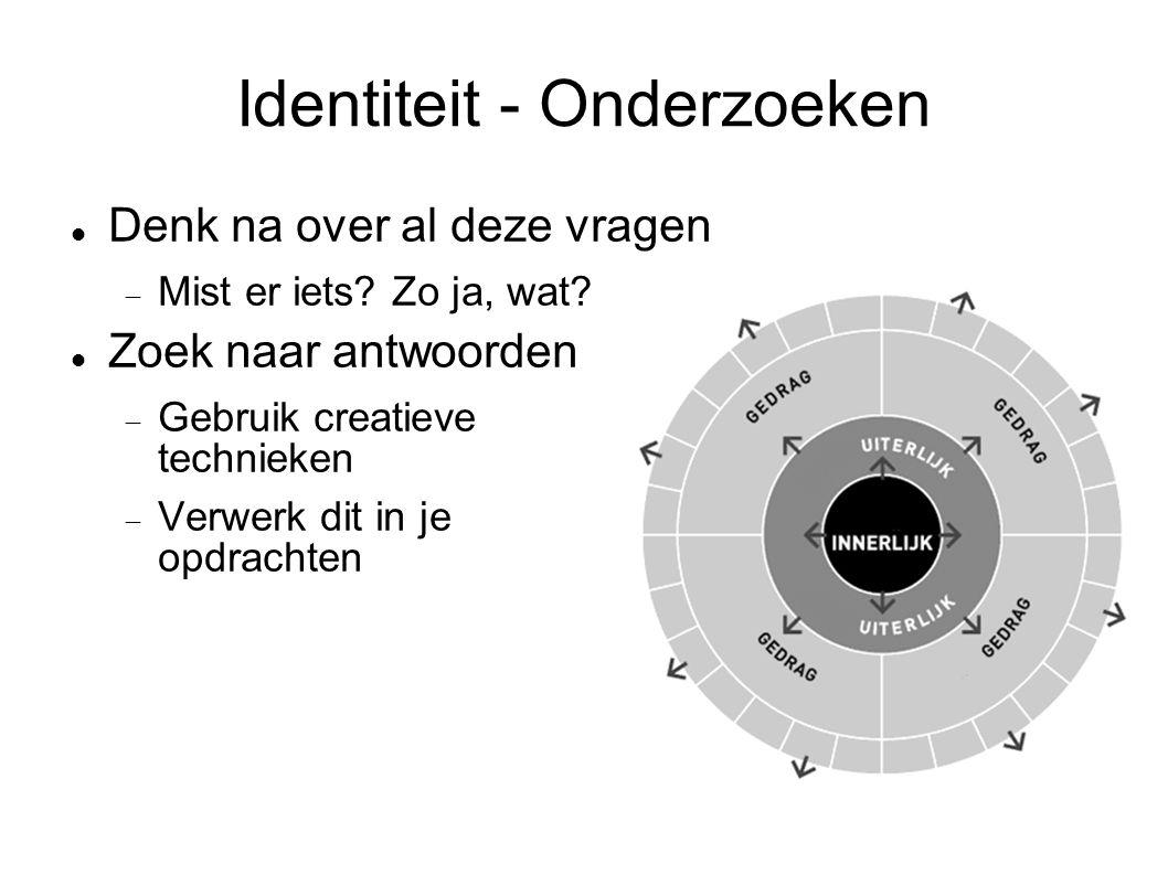 Identiteit - Onderzoeken